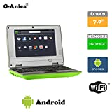 G-Anica® Chromebook 7.0-inch Full-HD Laptop (WIFI, Webcam, Dual-Core 1GB RAM, 8GB HDD) with Android 4.4.2 Netbook-Green