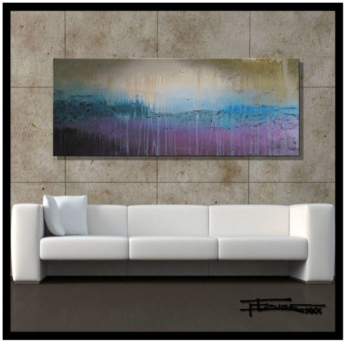 Modern, Abstract, Canvas Wall Art, Painting, Limited Edition Giclee...GRACELAND..60x24x1.5 Ready to Hang, US artist..ELOISExxx