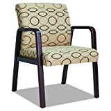 Alera RL43 TAN Reception Lounge Series Guest Chair, Mahogany/Tan Fabric