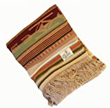 Old Hickory Wool Santa Fe Tan Throw Blanket by Pendleton