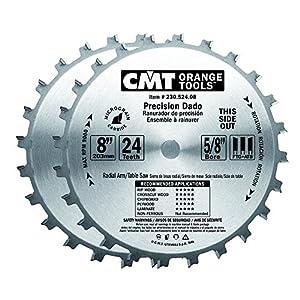 Cmt 230 524 08 Precision Dado Set 8 Inch X 24 Teeth Ftg