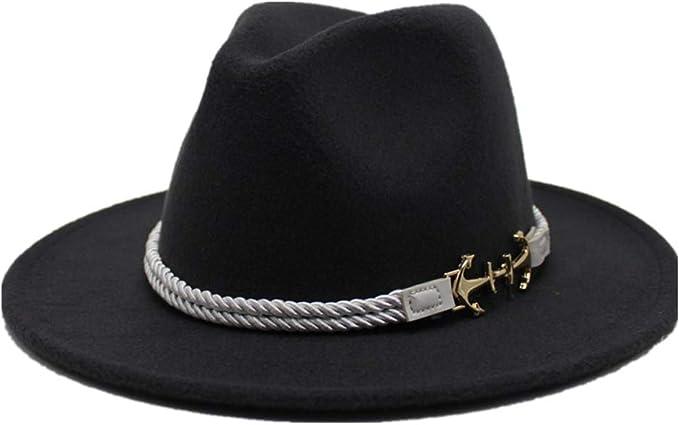 GHC gorras y sombreros Moda Hombre Mujer Sombrero Fedora, Lana ...