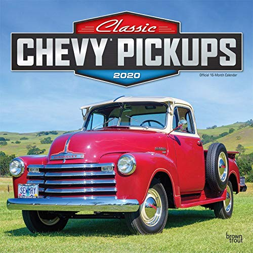 Classic Chevy Pickups 2020 12 x 12 Inch Monthly Square Wall Calendar with Foil Stamped Cover, Chevrolet Motor Truck