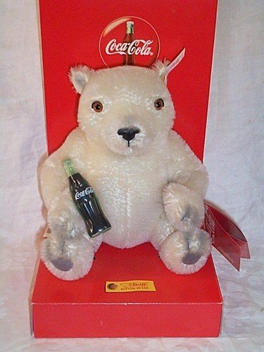 "Steiff Club Coca Cola 8"" Polar Bear Cub Collectable. for sale  Delivered anywhere in USA"