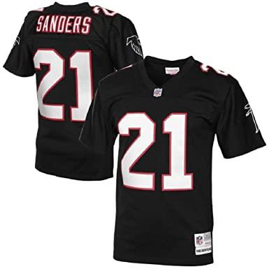 huge discount 832bb 43da9 Atlanta Falcons Deion Sanders #21 Black 1992 Retired Player Vintage Jersey