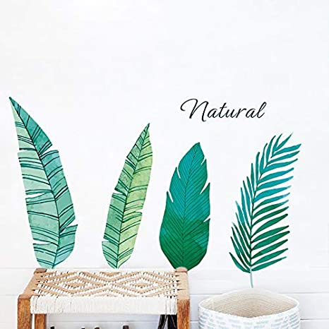 Buy World Beauty S Palm Leaves Wall Stickers For Living Room