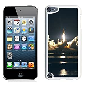 Lovely and Durable Cell Phone Case Design with NASA Space Shuttle Launch Take Off iPod Touch 5 Wallpaper in White