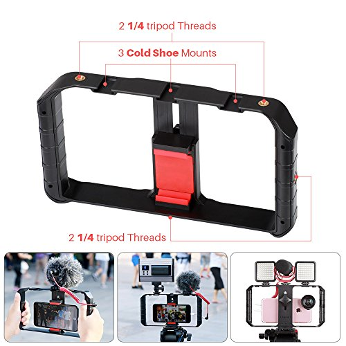 (Ulanzi U Rig Pro Phone Video Stabilizer - Filmmaking Case Smartphone Video Rig Grip Tripod Mount for Videomaker Film-Maker Video-grapher Compatible for iPhone Xs XS Max XR iPhone X 8 Plus Samsung)