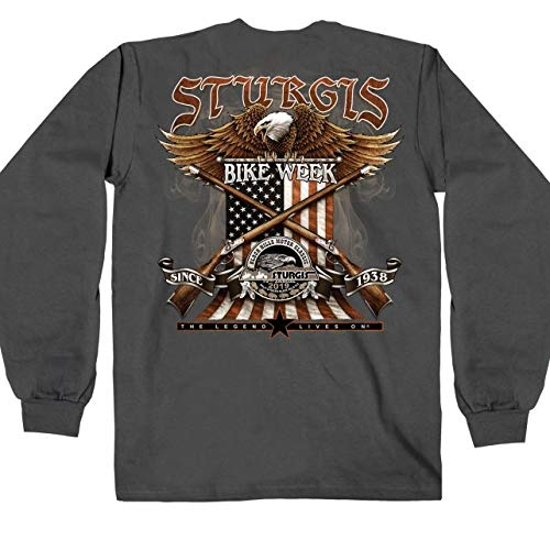 Hot Leathers Mens T-Shirt CHAR Medium SPM2790