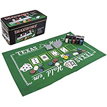 Mozlly Texas Holdem Poker Casino Theme with Play Mat Sport Gaming Set - Sports Theme - Item #102001