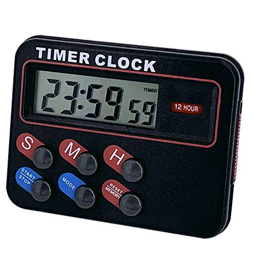 Kitstar Digital Timer for Kitchen Cooking Magnetic Countdown Stopwatch Coffee Shop Restaurant Black