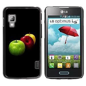 Paccase / SLIM PC / Aliminium Casa Carcasa Funda Case Cover - Fruit Macro Apples Colors - LG Optimus L5 II Dual E455 E460