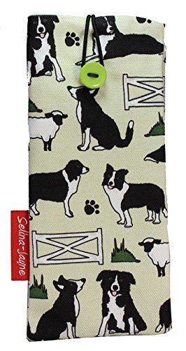 Selina-Jayne Border Collie Dogs Limited Edition Designer Soft Fabric Glasses Case