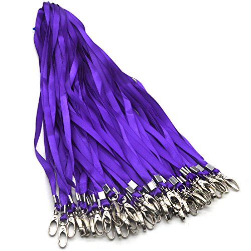 (Purple Lanyards Beebel 50Pcs 18