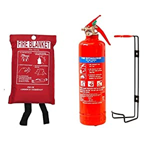NEW FSS UK PLUS 1 KG POWDER ABC FIRE EXTINGUISHER