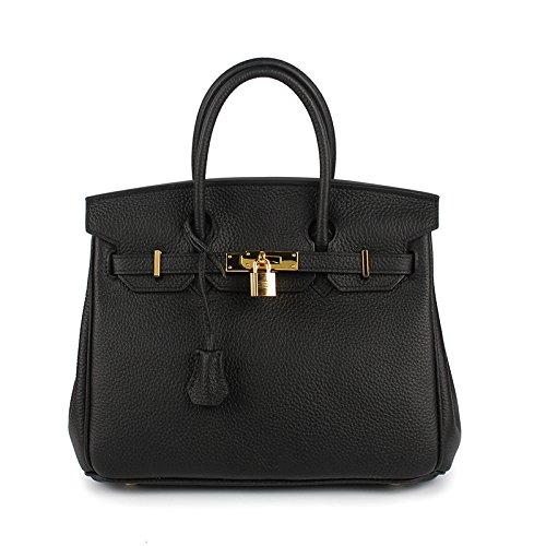 Dames AASSDDFF noir25x14x19cm à Lock Crossbody Sacs Véritable Pour Sacs Box Bag de Top Femmes Designer Sacs Faux main Femelle luxe Tote Hand Femmes qr1rIxwEB