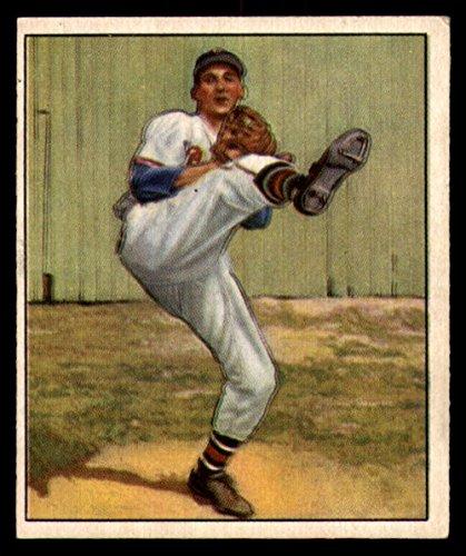 Baseball MLB 1950 Bowman #19 Warren Spahn EX Bos Braves