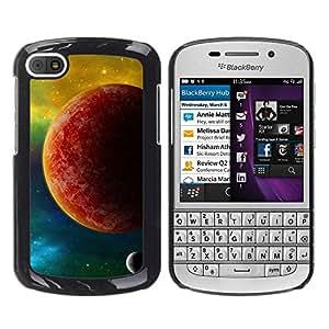 Caucho caso de Shell duro de la cubierta de accesorios de protección BY RAYDREAMMM - BlackBerry Q10 - Red Planet Mars Yellow Galaxy Stars Universe