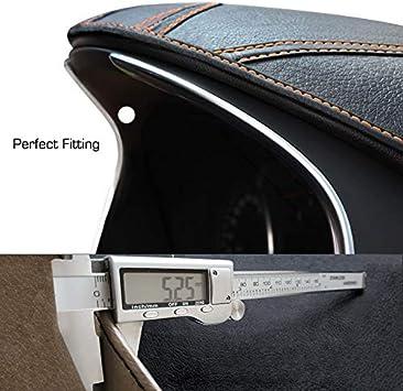 Kona EV 2017 2018 2019 2020 Black Leather LIGHTKOREA Custom Made Leather Interior Dashboard Carpet Dash Cover Mat Compatible with Hyundai Kona