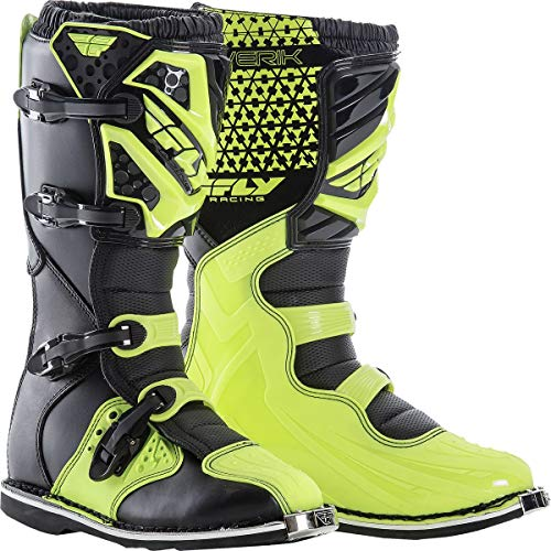 Fly Racing Unisex-Adult Maverick Mix Boots (Hi-Vis, Size 11) (Real Dirt Bikes For Racing)