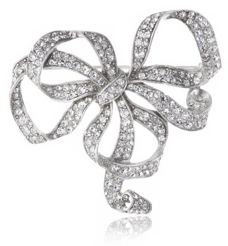 Ben Amun Jewelry Swarovski Crystal Bow Brooch