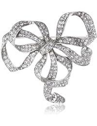 Swarovski Crystal Bow Brooch