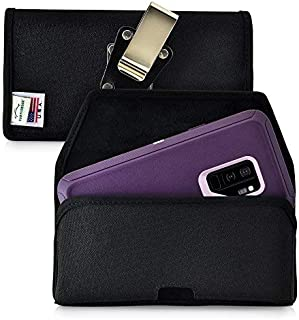 product image for Turtleback Belt Clip Case Made for Samsung Galaxy S9 Plus + with OB Defender case Black Holster Nylon Pouch with Heavy Duty Rotating Belt Clip Horizontal Made in USA