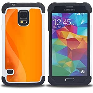 - orange play console logo sun summer - - Doble capa caja de la armadura Defender FOR Samsung Galaxy S5 I9600 G9009 G9008V RetroCandy