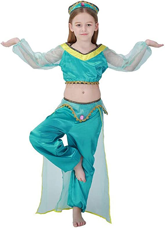 wetry - Disfraces Aladdin Princesa Jazmín y Príncipe Árabe para ...