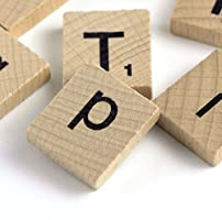 letras de Scrabble con números, piezas de Madera de repuesto, 110: Amazon.es: Hogar