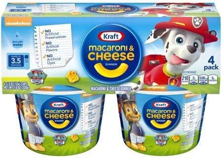 Kraft Paw Patrol Shapes Macaroni & Cheese Microcups クラフトポーパトロールシェイプマカロニ&チーズマイクロカップ、55g.x4 [並行輸入品]