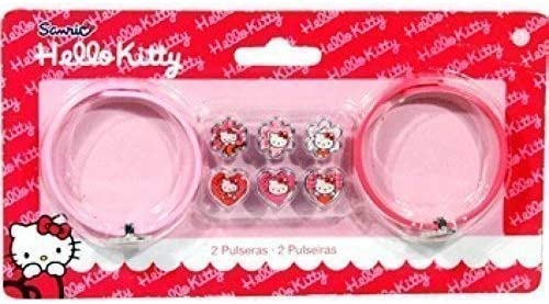 Lively Moments Disney Armbandset f/ür kleine Fashion Girls Armband in rot und rosa mit Hello Kitty