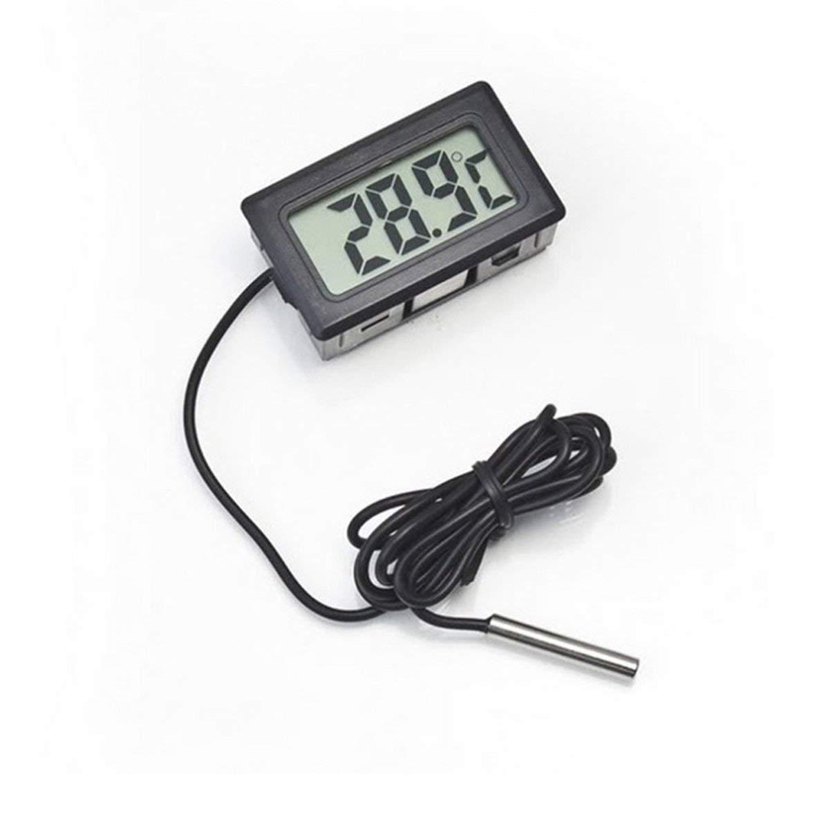 WEIWEITOE Diseño práctico Digital Sonda LCD Frigorífico Congelador ...