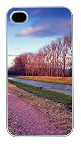 Riverside Road PC case Cover for iPhone 4 and iPhone 4s ¡§C White