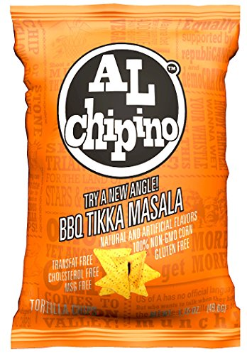 AL Chipino Gourmet Tortilla Chips - BBQ Tikka Masala 1.75 oz (12 count) (Gourmet Tortilla Chips)