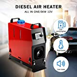 Partol Diesel Air Heater Forced Air Parking Heater 5KW 12V All In One Kit with Remote Controller Exhaust Pipe Air Duct For RV Trucks Boat Car Trailer