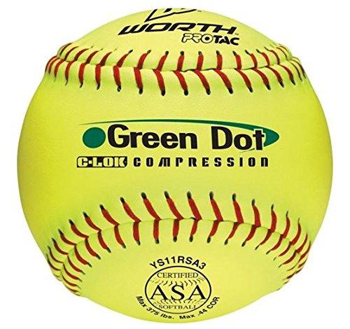 Dot Slowpitch Softball (Dozen) (Dot Worth Slow Pitch Balls)
