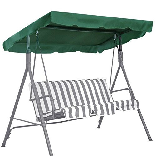 (BenefitUSA Patio Outdoor Swing Canopy Replacement Porch Top Cover Seat Furniture, Green)