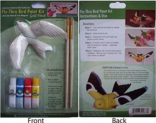 - Gold Finch Fly Thru Bird Window Ornament - Paint Kit