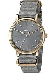 Timex Womens TW2P88600 Originals Tonal Grey Nylon Slip-Thru Strap Watch