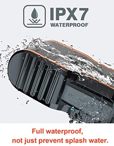 AOMAIS Sport II Portable Wireless Bluetooth Speakers 20W Bass Sound, 15H Playtime, Waterproof IPX7, Stereo Pairing, Durable Design Backyard, Outdoors, Travel, Pool, Home Party Orange 51eVGsDxj8L