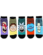 Rick and Morty Mens Ankle-No Show Socks 5 Pair Pack