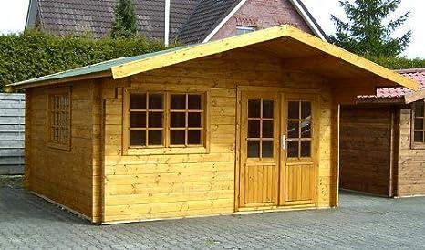 Gartenhaus ORCHIDEE Blockhaus 415 x 415 cm - 35 mm Gartenlaube Holzhaus Holzlaube: Amazon.es: Jardín