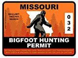 Bigfoot Hunting Permit - MISSOURI (Bumper Sticker)