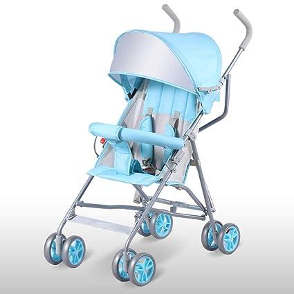 YKQ Cochecitos para niños pequeños Peso Ligero Plegable para bebés Carro Simple Cómodo Sistema de Viaje