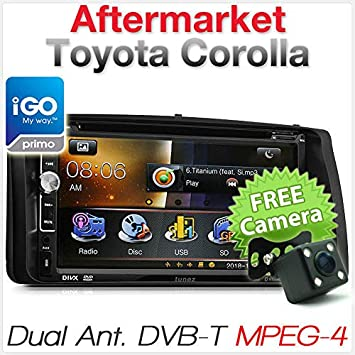 Reproductor de DVD GPS para Coche Toyota Corolla Digital TV DVB-T® MPEG-4® Radio Estéreo USB CD: Amazon.es: Coche y moto