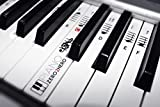 Piano Zero 2 Hero Musical Note Stickers - Removable and Transparent Keyboard/Piano Musical Note Trainer For All Ages. Accelerate Your Piano Skills Today!