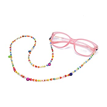Eyeglass Chain for Women Glasses Cords Holder Strap for Reading glasses & with Beaded Eyewear Retaine
