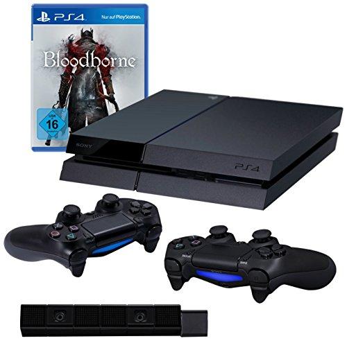 PlayStation 4 - Konsole (500GB) inkl. Bloodborne + 2 DualShock 4 Wireless Controller + Kamera