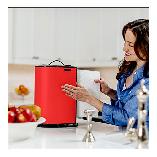 Innovia Hands Free Countertop Automatic Paper Towel Dispenser - Red ...